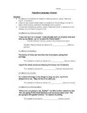 English worksheets: allusions