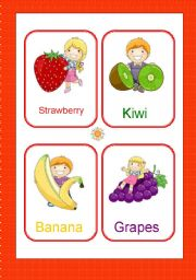English Worksheet: Fruits and vegtables flash-cards 1/2