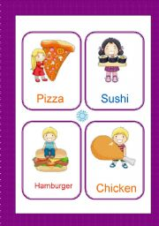 English Worksheet: Food and Drink flash-cards 2/2