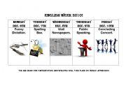 English Worksheets: English Week