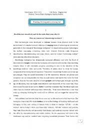 English Worksheet: Reading, writing and listening test