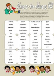 English Worksheets: Knee-to-Knee #2 (For the busy teacher)