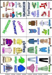 English Worksheet: CLOTHES Mini book