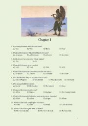 English Worksheet: Robinson Crusoe-Chapters 1-4