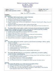 English Worksheet: The Cask of Amontillado Lesson Plan