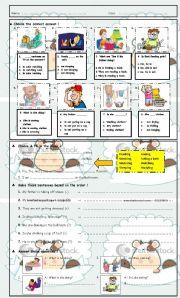 English Worksheet: Test : Present Continuious Tense