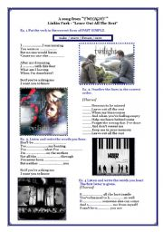 English Worksheet: Song from