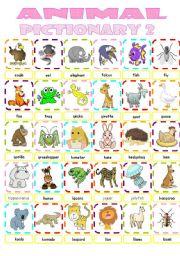 English Worksheets: Animal pictionary2