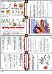 my daily routine minibook