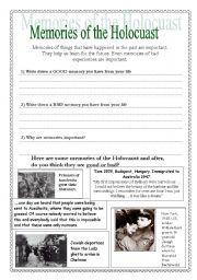 English Worksheet: Holocaust sheet