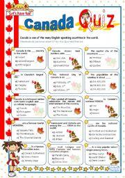 English Worksheet: Canada Quiz