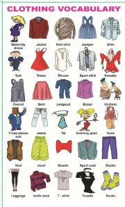 Esl clothes vocabulary intermediate