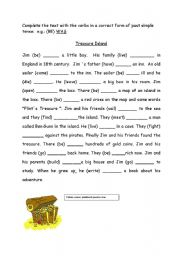 Treasure island worksheets