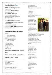 English Worksheet: Hey, soul sister