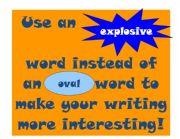 English Worksheets: explosive words