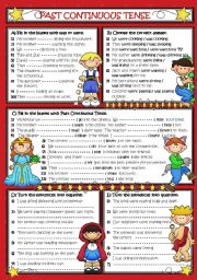 English Worksheet: PAST CONTINUOUS TENSE