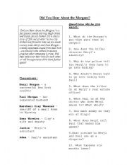 English Worksheets: Did You Hear About The Morgans - Film Worksheet