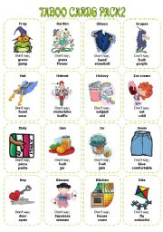 English Worksheet: Taboo Cards PAck2 (32 cards)