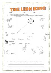 The Lion King Worksheet 1 4 Esl Worksheet By Marioenergico21