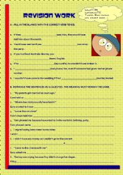 English Worksheet: Review for Intermediate Students (10th grade) + KEY - pls read details