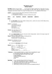 English Worksheet: activities on the song �I Will Always Love You� by Whitney Houston
