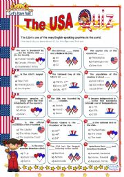 English Worksheet: The USA  Quiz