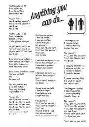 Irving Berlin – Anything You Can Do Lyrics | Genius Lyrics