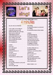 English Worksheet: GLEE SERIES � THE POWER OF MADONNA - SONGS FOR CLASS! S01E15 � THREE SONGS � FULLY EDITABLE WITH KEY! � PART 2/2