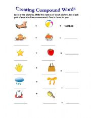 image regarding Printable Compound Word Games called Substance Words and phrases - ESL worksheet by way of Angie1970