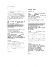 English Worksheet: Hey, Soul sister- song worksheets