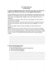 English Worksheets: The Thirty-Nine Steps Worksheet