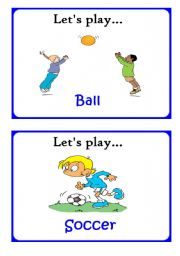 English Worksheets: Let�s play 2