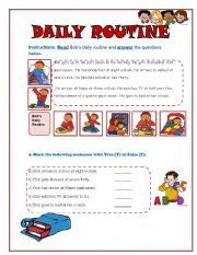 Daily Routines online exercise and pdf. You can do the ...