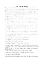 image relating to Three Little Pigs Printable Story titled 3 minor pigs tale - ESL worksheet by way of bilge2940