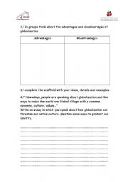 English Worksheets: globalization part II