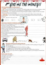 English Worksheets: Give me the money!!!