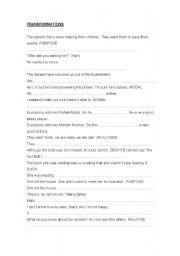 English Worksheets: transformations