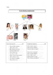 English Worksheets: Reading comprehension, family