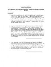 English Worksheets: Study Scenarios