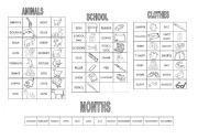 English Worksheets: Vocabs