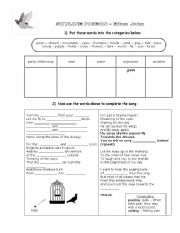 English Worksheet: Skyline Pigeon - Elton John song with exercises and answer key