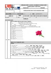 English Worksheets: Spot on 8 Unit 10
