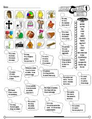 English Worksheets: Riddle Series_01 Easter (Fully Editable + Key)