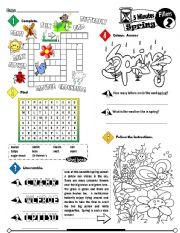 English Worksheet: Five Minutes Fillers Series_02 Spring (Fully Editable + Key)