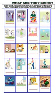 English Worksheet: chores in the house