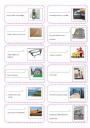 English Worksheets: Creating Questions Activity Cards Part 2 (where, when)