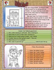 English Worksheets: Undecided