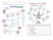 English Worksheets: PLURALS OF NOUNS