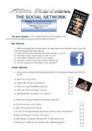 English Worksheet: The Social Network - Film review