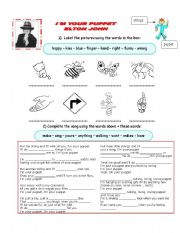 English Worksheets: Elton John song - I�m your puppet with exercises and answer key
